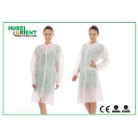 Dental Medical Tyvek Disposable Lab Coats / Plus Size Lab Coats Breathable For Body