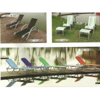 Buy cheap Colorful Stackable Patio Furniture Lounge Chair , Aluminum Chaise Lounge Pool Chairs from wholesalers