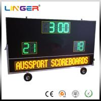 Buy cheap Electronic Waterproof Outdoor Soccer Scoreboard With Message Sign / Moving Stand from wholesalers