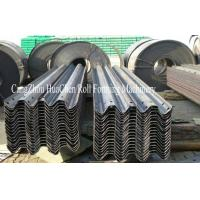 Buy cheap PLC Guard Rail Roll Forming Machine With GCR15 Bearing Steel For Highways product