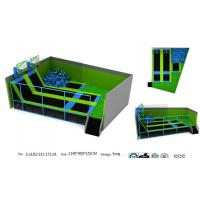 Buy cheap 102M2 Large Size Funny Kids & Adults Indoor Amusement Trampoline Park Fitness Equipment from wholesalers