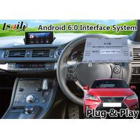 Buy cheap Android 6.0 GPS Navigation Interface for Lexus CT 200h 2016-2018 support original knob Control Mirror link product