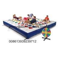 China popular kids outdoor Inflatable track for twister game,color dot game for adults on sale