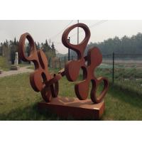 Buy cheap Contemporary Design Art Corten Steel Sculpture Rusty Metal Garden Ornament product