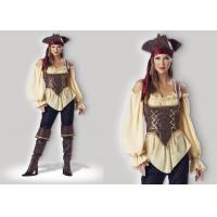 Buy cheap Rustic Pirate Lady 1024  Halloween Adult Costumes Brown Yellow Red Mixed Color product