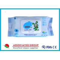Buy cheap Ultra Packing Baby Wet Wipes Pearl Dot Spunlace Uncontinuorsly Extrating 90PCS product