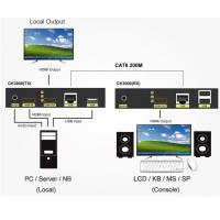 Buy cheap Full HD 1080P HDMI and USB2.0 KVM Extender with Audio Support 200 meters product