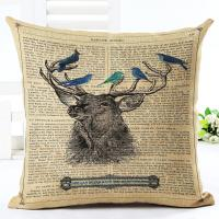 Buy cheap Geometric Deer Antler Throw Pillow Case Cushion Cover 18x18 Nordic Animal product