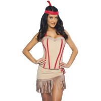Buy cheap Customized Party Adult Costumes Princess Lily Indian Costume in Pink product