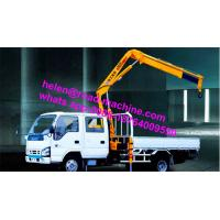 Buy cheap Truck Mounted Crane Knuckle Boom Truck Crane 5Ton SQ5ZK3Q yellow crane sinotruk chassis from wholesalers