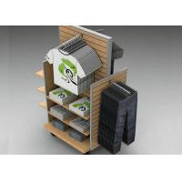 Buy cheap Strong Flooring Slatwall Shelves Clothing Display Rack With Silver Aluminum Slot from wholesalers