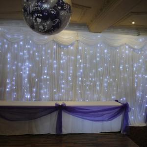 Buy cheap Sky light drape led light black curtain led stage backdrop cloth from wholesalers