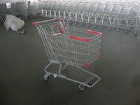 Buy cheap PU Wheel Supermarket Shopping Carts with Bottom Rack , funky shopping trolley product