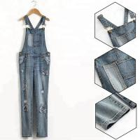 China Custom Logo Teen Girls Denim Clothes Adjustable Strap Denim Fabric Overalls on sale