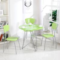 Buy cheap Modern Glass Top Dining Room Table , Colorful Glass Top Dining Table And Chairs product
