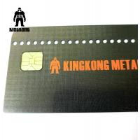 Buy cheap CR80  Grid Finished Metal Membership Card , Square Brushed Metal Business Cards product