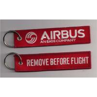 China Remove Before Flight Airbus An Eads Company Fabric Embroidery Keychain Key Ring on sale