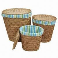 Buy cheap Oval Willow Laundry Baskets with Lining and Lids, Large Storage and Bright Color product