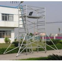 Adjustable Lightweight Aluminium Mobile Scaffold / Roof Scaffold For Cleaning Window
