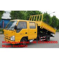 China HOT SALE best price ISUZU 4*2 LHD double cabs 3tons dump tipper truck, good price ISUZU 120hp diesel dump truck for sale on sale