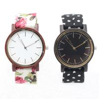 China High Grade Custom Wooden Watches For Women With Cotton Cloth Band on sale