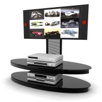 Buy cheap DVD Multi Media Glass TV Stand Box Two Glass Layers Black Silk Screen , TV from wholesalers
