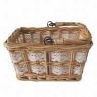 Buy cheap Christmas Basket, Available in Various Colors and Sizes, Decorations Around, Made of Wicker (Willow) product