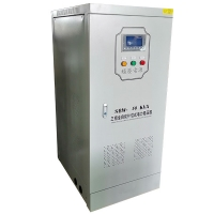 Buy cheap SBW-50KVA Three Phase AC Servo Motor Type Full Auto Compensated Voltage Regulator product