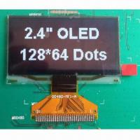 Buy cheap 2.4 Inch OLED Display Module with White Color, Wide Viewing Angle and Wide Temperature Range product