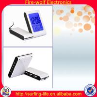 Buy cheap With 3USB-HUB alarm clock,Charming alarm clock manufacture & factory,Travel clock product