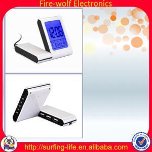 China With 3USB-HUB alarm clock,Charming alarm clock manufacture & factory,Travel clock on sale