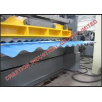 Buy cheap Corrugated Iron Roof Panel Roll Forming Machine With Auto Cutter for 24 26 28 30 Gauge Steel Coils product