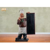 Buy cheap Wooden Menu Boards Polyresin Statue Figurine Poly Resin Floor Chef Sculpture For from wholesalers