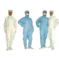 Buy cheap Laundering Durability Clean Room Garments Dust proof ESD Anti Static Coverall product