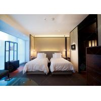 Buy cheap Comfortable Double Bed Style Hotel Bedroom Furniture Single Bed Size For Sale product
