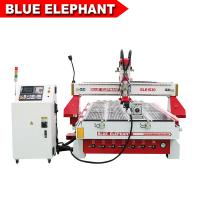 China BLUE ELEPHANT automatic 3d wood carving engraving machine cylinder 3d objects cnc router atc with rotary on sale