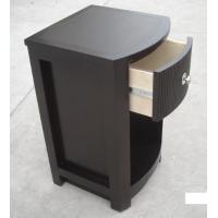 Buy cheap MDF Board Bedroom Furniture Bedside Tables , Side Mounted Tall Night Stand product
