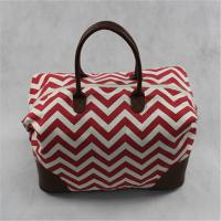 Buy cheap Trendy Portable Custom Canvas Tote Bags , Mummy Travel Bag With PU Handles product
