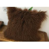 Buy cheap Customized Color / Size Mongolian Sheepskin Decorative Throw Pillow 10-15cm Wool product