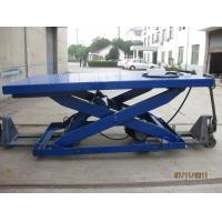 Buy cheap Stationary Type Hydraulic Scissor Lift Table , Manual Lift Table With 500 - 5000 Kg Load from wholesalers