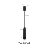 Buy cheap Electroplating Matt Black Ceiling Light Cable Suspension Systems YW86344 product