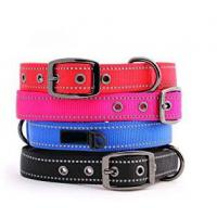 Buy cheap Reflective Heavy Duty Nylon Dog Collars Metal Buckle Eco Friendly 5 Sizes Option product