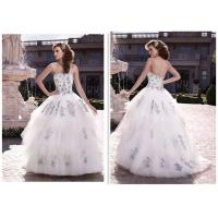 Corset Strapless Ball Gown Style Wedding Dresses With Bling Fashionable