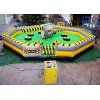 Buy cheap Meltdown Mechanical 8m Dia Total Wipeout Inflatable For Rotating Obstacles Games product