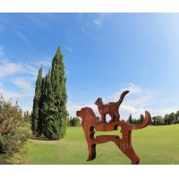 Buy cheap Dog Statue Corten Steel Sculpture As Outdoor Decoration , Metal ODM Design product