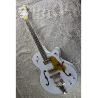 Buy cheap Factory Custom White Gretsch Falcon 6120 Semi Hollow Body Korean Tuners Jazz Electric Guitar With Bigsby Tremolo product