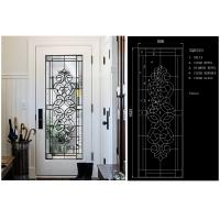China Fashion Tempered Decorative Glass Panels Wood Grain Clear Tinted  Black Patina on sale