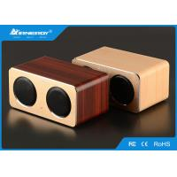 Buy cheap USB Handmade Wooden Portable Speaker , Wooden Desktop Speakers Built - In Microphone from wholesalers