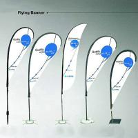 Buy cheap Outdoor Printed Business flags and banners height up to 4m Screen print product