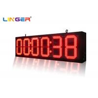 Buy cheap Indoor and Outdoor Ultra Thin Wall Led Digital Clock for Bus Station Train Station product